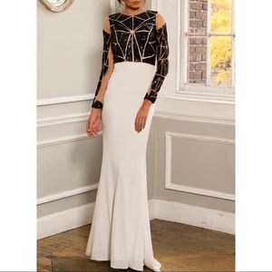 Jovani Gown Black/White Gown